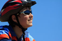 Portrait of bicyclist Royalty Free Stock Images