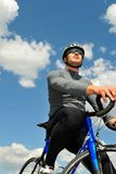 Portrait of bicyclist royalty free stock image