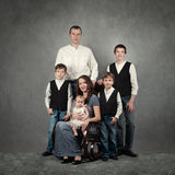 Portrait of big happy family Stock Images