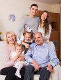 Portrait of big multigenerational family Royalty Free Stock Photography