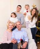 Portrait of big multigenerational family Royalty Free Stock Image