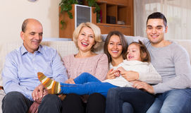 Portrait of big multigenerational family Royalty Free Stock Photos