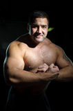 Portrait of big muscular man Royalty Free Stock Image