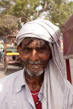 Portrait of Bike Richshaw Rider in Agra India Stock Photo