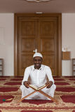 Portrait Of A Black African Man In Mosque Stock Photography
