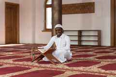 Portrait Of A Black African Man In Mosque Stock Images