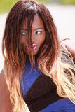 Portrait of a black African woman with long hair Stock Photo