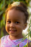 Portrait of a black baby girl close-up. Royalty Free Stock Photos