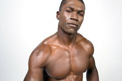 Portrait of black bodybuilder Stock Photo