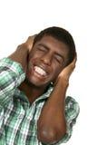 Portrait of black boy. On white background Stock Photography