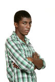 Portrait of black boy Stock Photography