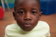 Portrait of a black boy stock photo