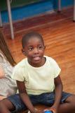 Portrait of a black boy royalty free stock image