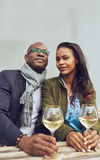 Portrait of black couple dating Royalty Free Stock Images