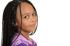 Portrait black female child stock photography