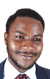 Portrait of black man. stock image