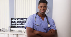 Portrait of black medical doctor in hospital Royalty Free Stock Images