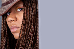 Portrait of a black woman Royalty Free Stock Images