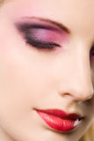 Portrait of a blond beauty with elegant makeup. Stock Images