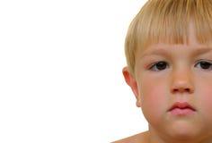 Portrait of a blond boy Stock Photos