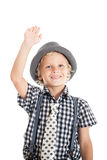 Portrait of blond boy wearing a hat Royalty Free Stock Image