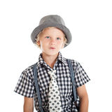 Portrait of blond boy wearing a hat Royalty Free Stock Photo