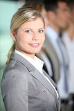 Portrait of blond businessman Stock Photos
