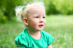 Portrait of blond child Royalty Free Stock Photos