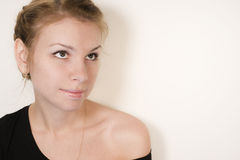 Portrait of blond  gir Royalty Free Stock Image