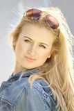 Portrait of blond girl Stock Images