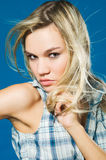 Portrait of blond girl Stock Photos