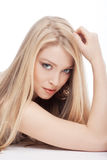 Portrait of a blond girl Royalty Free Stock Photos