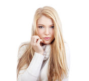 Portrait of a blond girl Stock Image