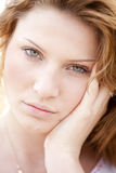 Portrait of blond girl. Royalty Free Stock Images