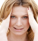 Portrait of blond girl. Stock Photo
