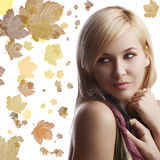 Portrait of  blond girl with beautiful Stock Image