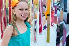 Portrait of blond girl children Stock Image