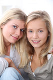 Portrait of blond girls Stock Photos