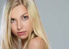 Portrait of blond hair teenage girl Royalty Free Stock Photography