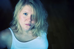 Portrait of a blond hair woman Royalty Free Stock Photo