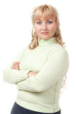 Portrait of a blond lady Royalty Free Stock Image
