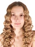 Portrait of blond long-haired girl. Royalty Free Stock Photo