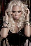 Portrait of blond model Stock Image