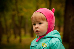 Portrait of blond small girl Royalty Free Stock Photo