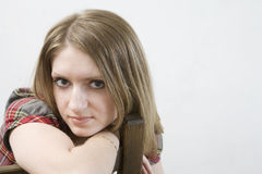Portrait of blond woman Royalty Free Stock Photo