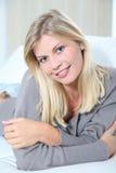 Portrait of blond woman Stock Photo