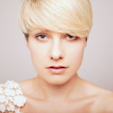Portrait of blond woman Stock Photo