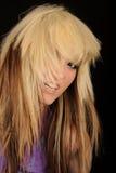 Portrait of blond woman stock images