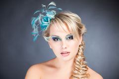 Portrait of blond woman with accessories Royalty Free Stock Photography