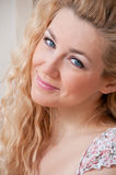 Portrait of a blond woman with beautiful hair Royalty Free Stock Image